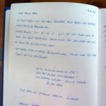 Gästebucheintrag